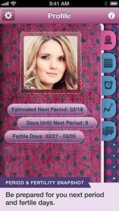 PINK PAD PERIOD AND FERTILITY TRACKER PRO