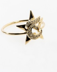 -Ring Diamond , Letter 'J'