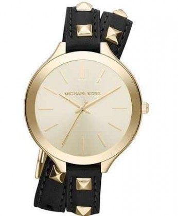 MICHAEL MICHAEL KORS SLIM DOUBLE WRAP WATCH: