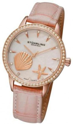 STUHRLING ORIGINAL WOMEN'S VERONA LA PLAYA SWISS QUARTZ WATCH: