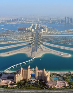 File photo of an aerial view of Atlantis hotel seen with The Palm Jumeirah in Dubai