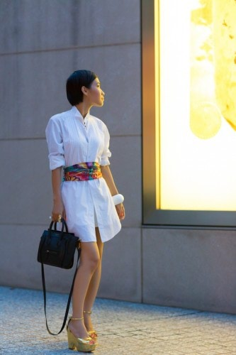 white-dress-and-scarf-belt