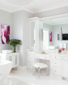 Good-Looking-lucite-dining-chairs-in-Transitional-Miami-with-Prepossessing-Mirrored-Cabinet-Doors-next-to-Exquisite-White-Floor-Tile-alongside-Exquisite-Makeup-Table--718x479