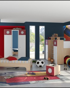 cool-boy-room-decorating-ideas-with-patterned-rug-suitable-cupboard-and-small-bed