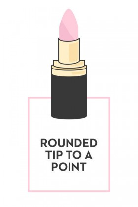 ROUNDED TIP TO A POINT