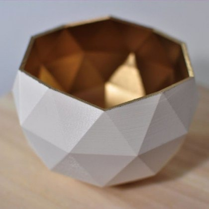 صحن GOLDEN WHITE POLY BOWL