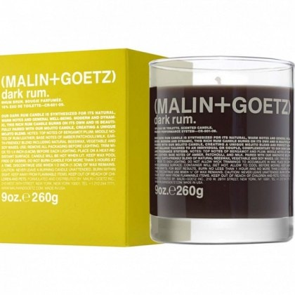 Malin + Goetz's Dark Rum Candle
