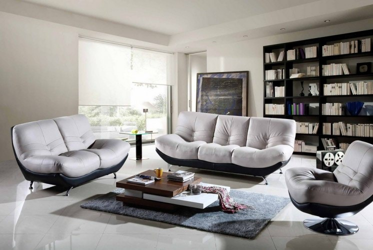 Comfortable-Stylish-Sofa-And-Bookshelf-In-A-Modern-Library-Living-Room