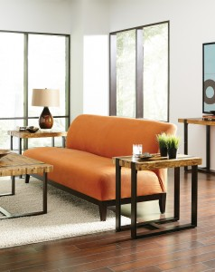 furniture-marvellous-living-room-design-featuring-orange-fabric-sofa-with-dark-wood-frame-and-natural-brown-solid-oak-wood-rectangular-coffee-table-together-with-dark-wrought-iron-feet-on-area-white-f