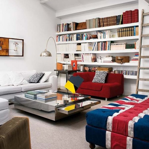 home-interior-design-living-room-with-Ottoman-in-Union-Jack-colors-ideal-for-a-modern-home-library