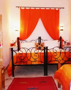 Our spacious ground floor twin / triple Orange bedroom with ensuite
