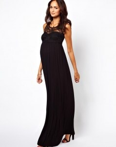 Casual-Black-Maternity-For-Baby-Shower-Dresses