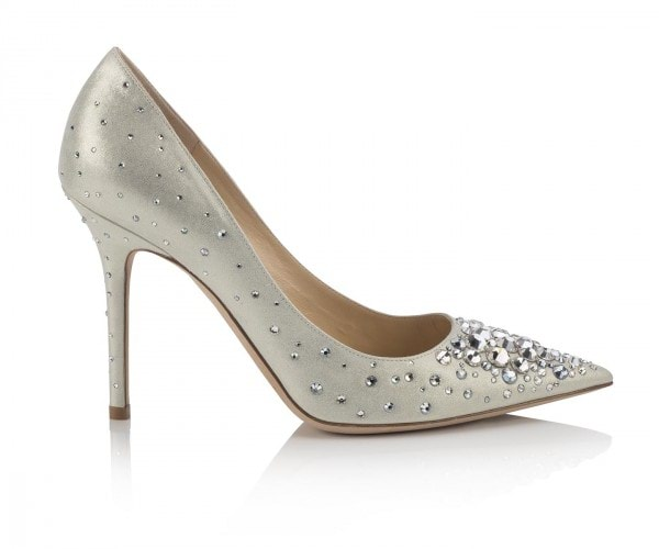 ABEL-SHIMMER SUEDE WMULTI CRYSTALS-WHITE & CRYSTAL AED 2350