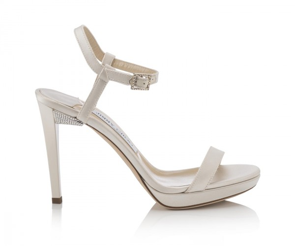 CLAUDETTE 100-SATIN WCRYSTAL DETAILED HEEL- IVORY AED 2650