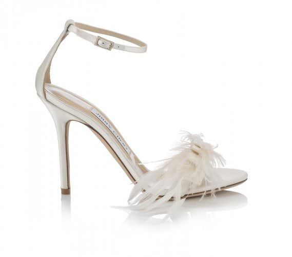 VIVIEN 100-SATIN WFEATHER BOW-IVORY AED 3300