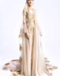 Embellised Gown with Detachable Tulle Skirt and Veil (2)