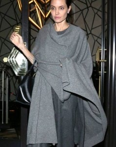 ** RESTRICTIONS: ONLY UNITED STATES, BRAZIL, CANADA ** London, UK – London, UK – Angelina Jolie goes out to dinner in an all grey outfit while meeting up with a friend at Quaglino's Restaurant. Angelina wore a dark gray knee length dress which she covered in a lighter grey shawl, which she matched with even lighter heels.      AKM-GSI 25 APRIL 2016   To License These Photos, Please Contact :   Maria Buda  (917) 242-1505  mbuda@akmgsi.com  or    Steve Ginsburg  (310) 505-8447  (323) 423-9397  steve@akmgsi.com  sales@akmgsi.com