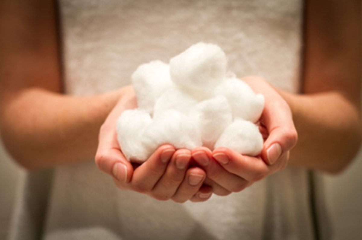 Handfuls of cotton wool