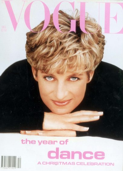 **THIS IMAGE HAS NOT YET BEEN INDEXED BY THE LIBRARY.  IF IN ANY DOUBT ABOUT COPYRIGHT,CAPTION OR FEE CONTACT LIBRARY OR PICTURE DESK ** PKT472-91501LP3DPRINCESS OF WALES –  MAGAZINES11.91VOGUE COVER GIRL…ROYALTY