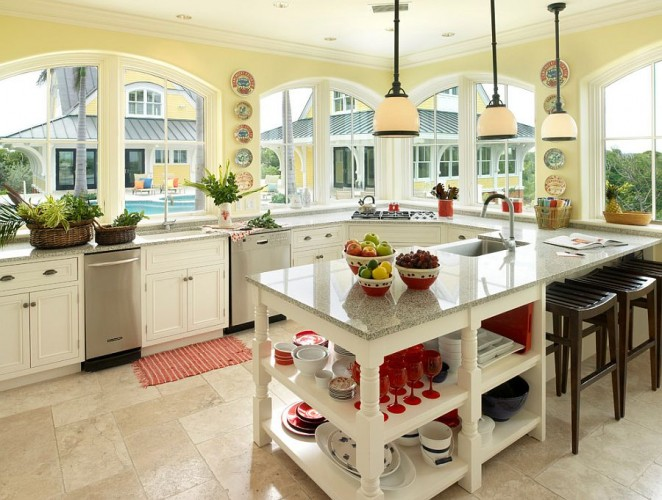 Counters-bring-gray-in-a-subtle-fashion-to-the-tropical-kitchen