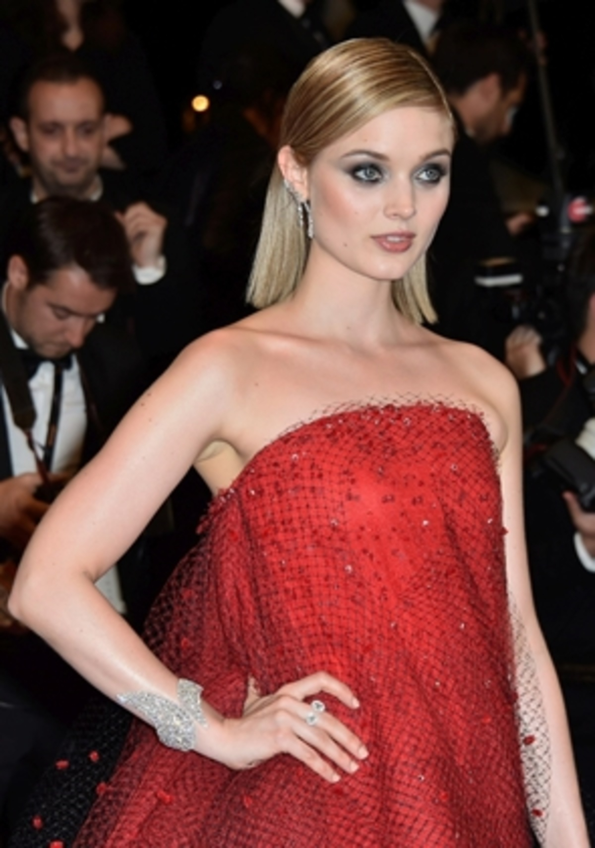 "CANNES, FRANCE – MAY 20:  Actress Bella Heathcote attends ""The Neon Demon"" Premiere during the 69th annual Cannes Film Festival at the Palais des Festivals on May 20, 2016 in Cannes, France.  (Photo by Pascal Le Segretain/Getty Images)"