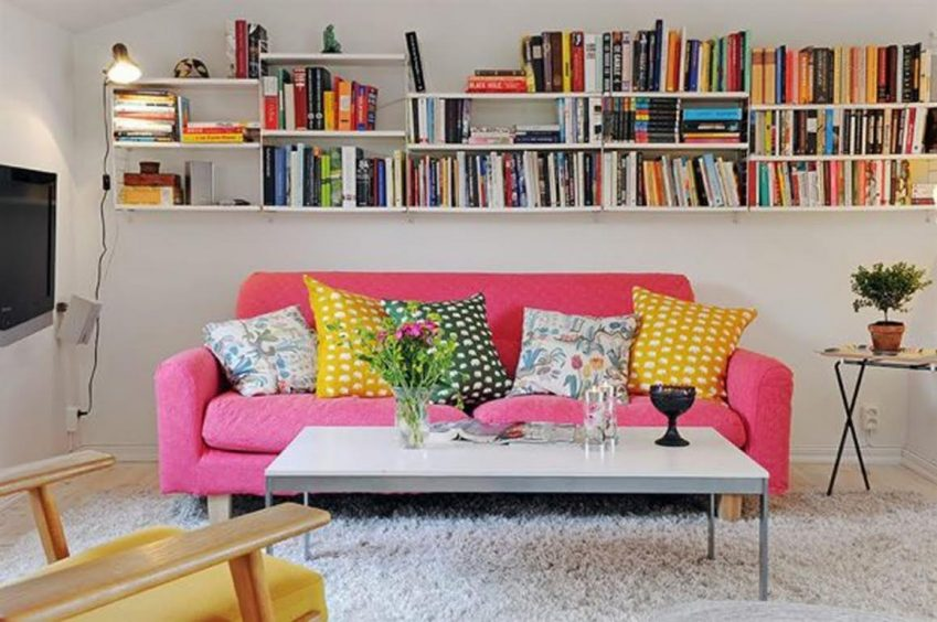 Scandinavian Style pink sofa living room Vig Furniture Inc. Brand –