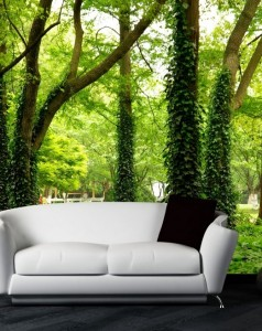 Custom-3d-photo-luxuriant-big-green-tree-grows-in-the-forest-design-3d-wallpaper-3d-mural - Copy