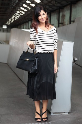 Pick-Slouchy-Striped-Tee-Strappy-Sandals
