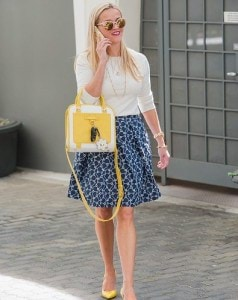 spring-work-outfit-reese-witherspoon-blue-skirt