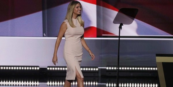 Ivanka Trump takes the stage to introduce her father and Republican U.S. presidential nominee Donald Trump at the Republican National Convention in Cleveland