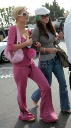 Paris Hilton and friend shopping in West Hollywood, CA