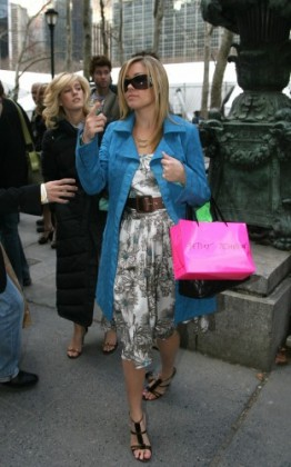 Celebrity arrivals at New York Fashion Week 2006