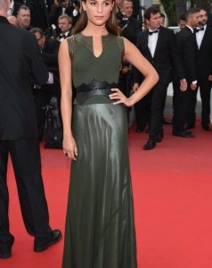 Alicia-wore-dramatic-dark-green-Louis-Vuitton-number