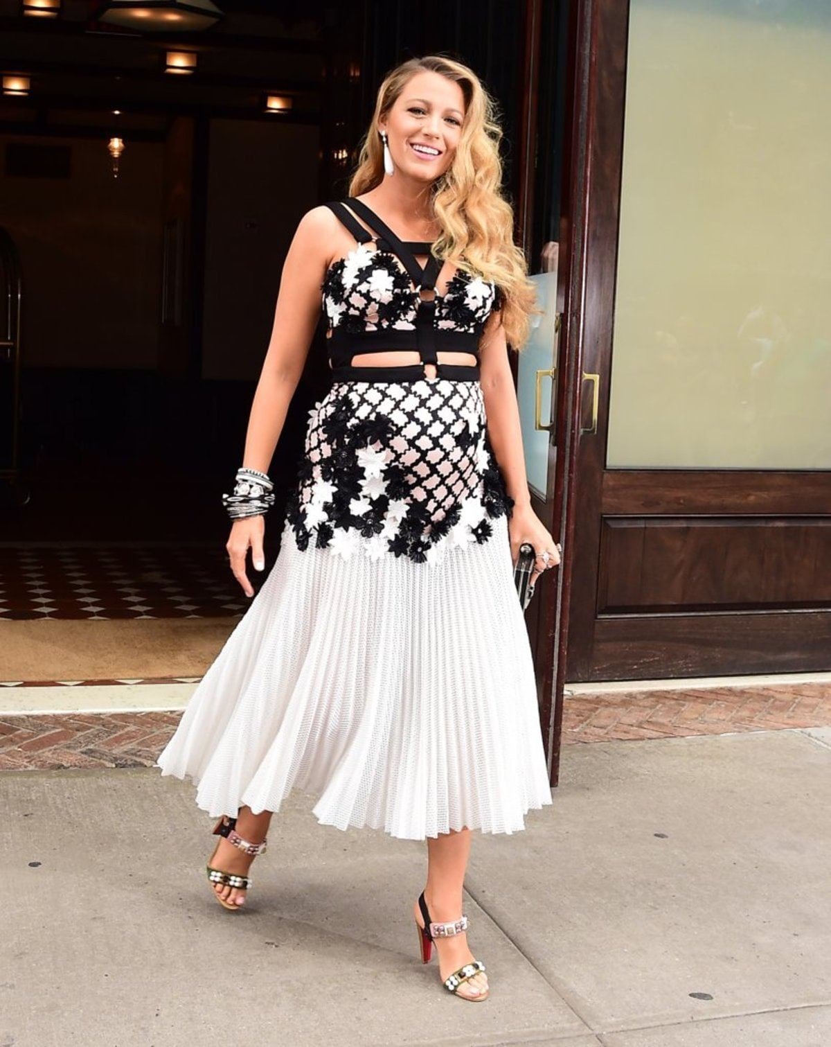 Blake-Lively-Wearing-Cutout-Dress