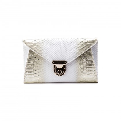 Mia Clutch in Golden White__AED 2800