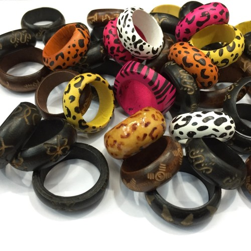 Wholesale-Free-Shipping-Jewelry-Lots-12pcs-Mixed-Lots-Fashion-Wooden-font-b-Rings-b-font-for