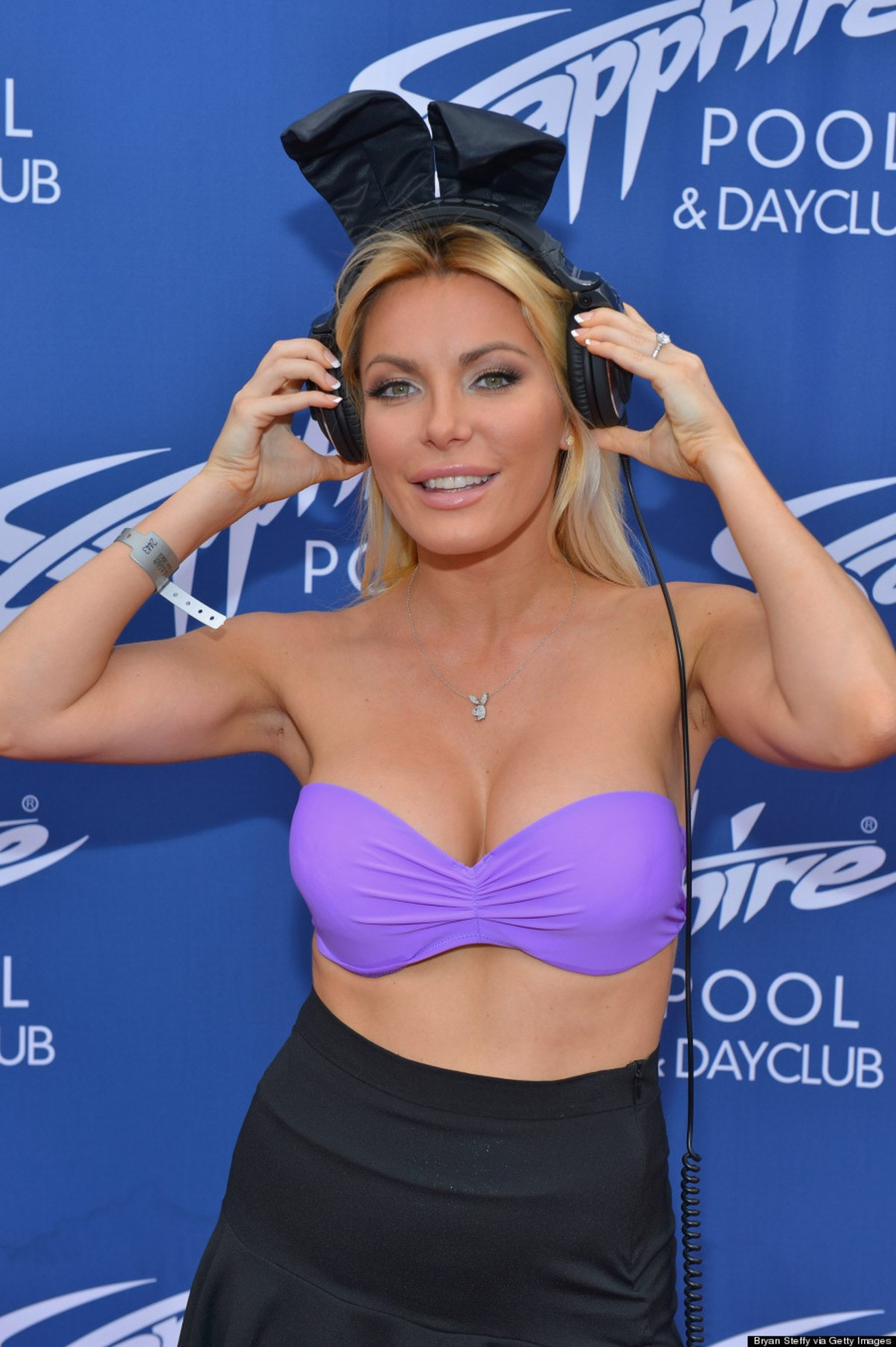 LAS VEGAS, NV - AUGUST 31: Television personality/model/DJ Crystal Hefner arrives at the Sapphire Pool & Dayclub to host Labor Day weekend on August 31, 2013 in Las Vegas, Nevada. (Photo by Bryan Steffy/Getty Images)