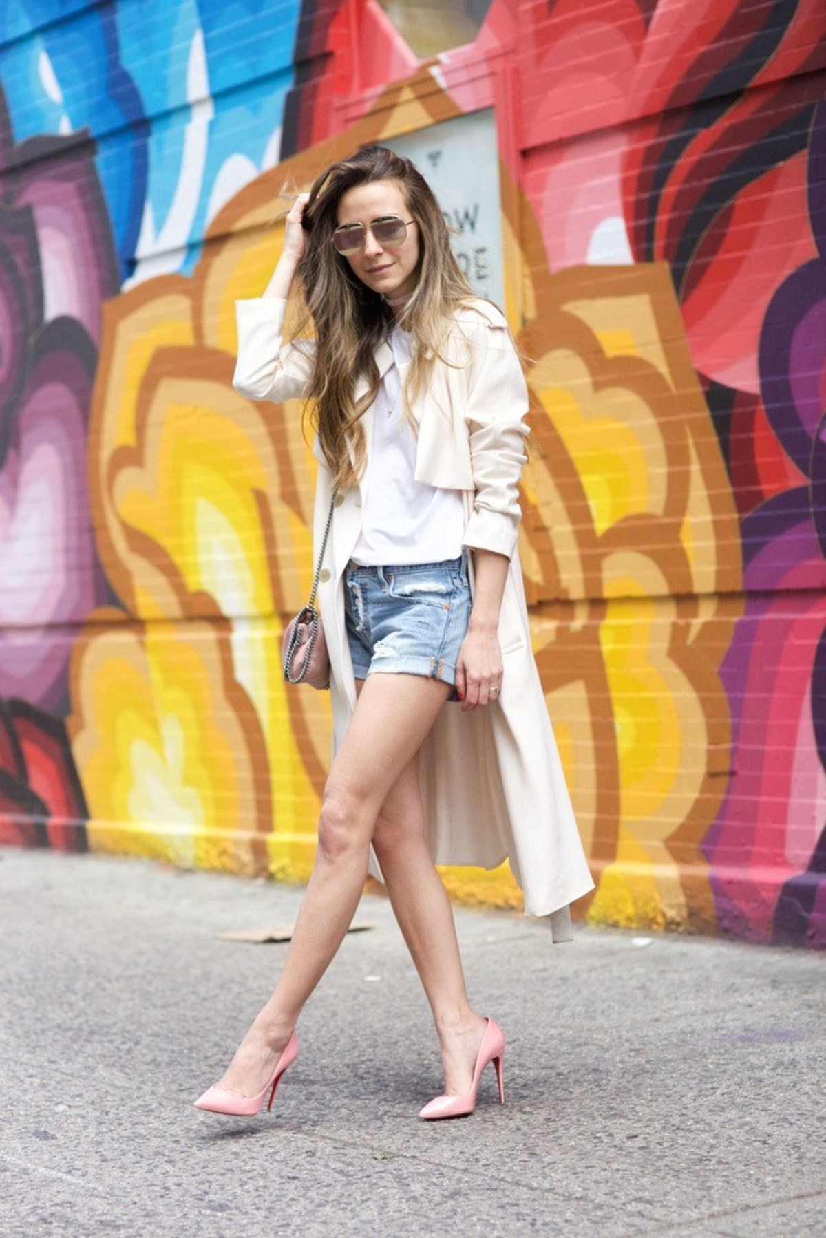 something-navy-arielle-charnas-denim-shorts