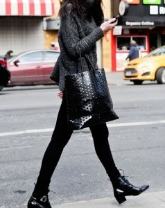 NEW YORK, NY – FEBRUARY 27:  (EXCLUSIVE ACCESS, SPECIAL RATES APPLY) Natalie Suarez, blogger of natalieoffduty.com seen wearing an alpaca turtleneck sweater by Nanette Lepore Fall 2014, with her own J Brand jeans, Modern Vice shoes, Rachel Comey tote and vintage rings on the streets of midtown Manhattan following Mercedes-Benz Fashion Week Fall 2014 on February 27, 2014 in New York City.  (Photo by Daniel Zuchnik/Getty Images)