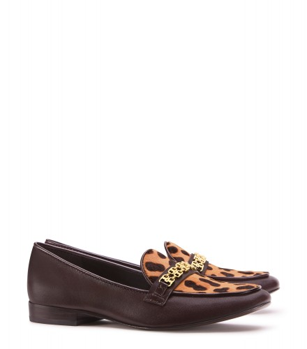 TB Gemini Link Loafer 33209 in Leopard Print, Coconut