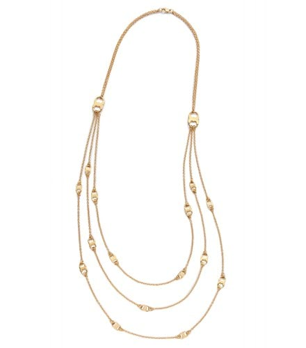 TB Gemini Link Multi-Strand Necklace 29628 in Shiny Gold