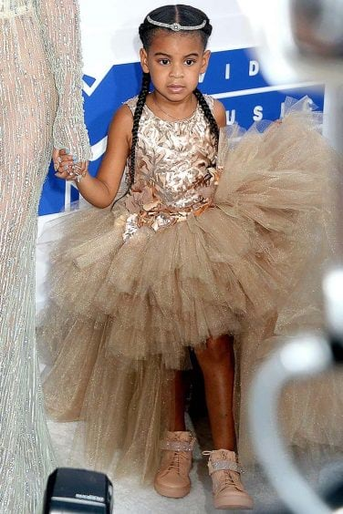 Mandatory Credit: Photo by Broadimage/REX/Shutterstock (5848766ah) Blue Ivy Carter 2016 MTV Video Music Awards, Arrivals, Madison Square Garden, New York, USA – 28 Aug 2016 2016 MTV Video Music Awards