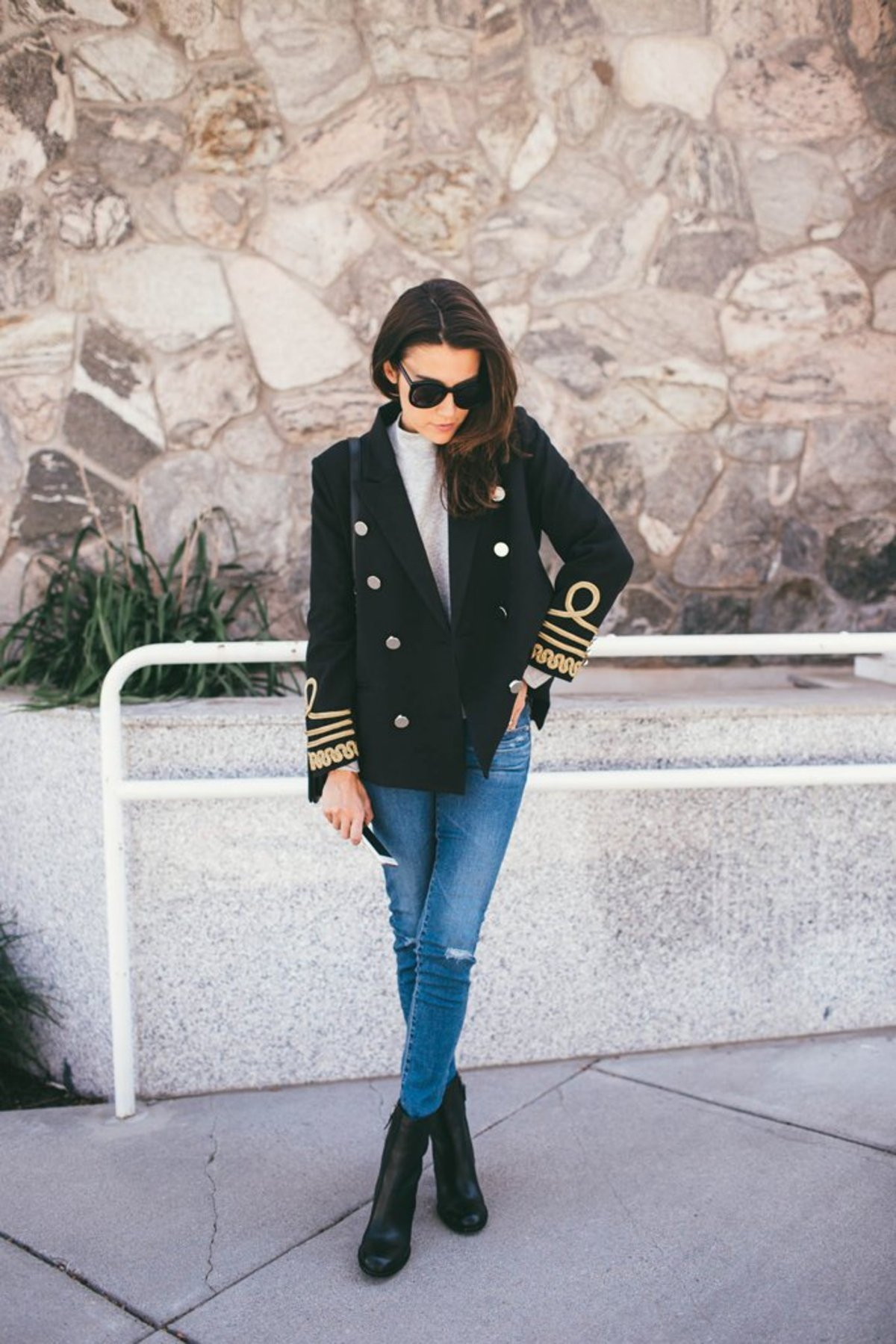 double-breasted-blazer-layered-over-mock-neck-sweater-jeans-ankle-boots