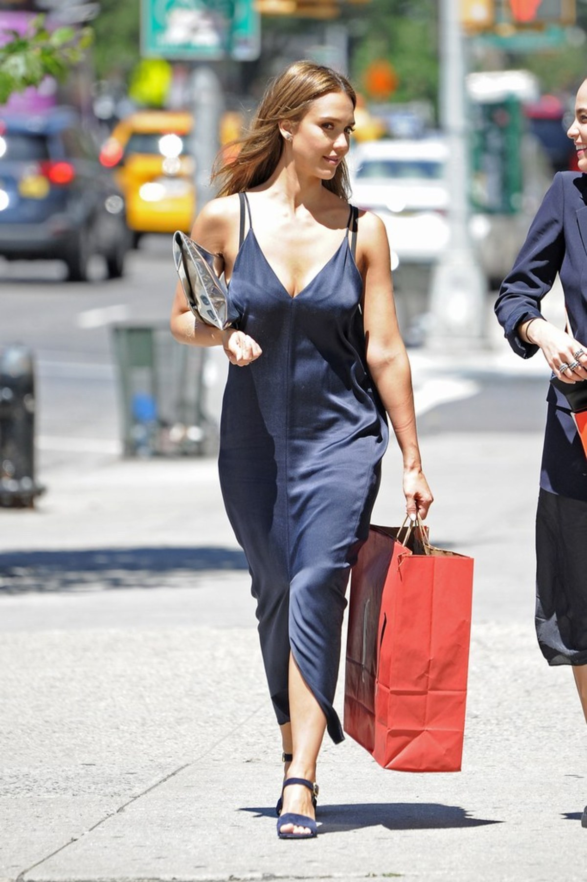 jessica-alba-navy-slip-dress