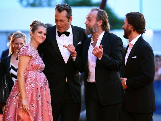 "Actors Teresa Palmer, Vincent Vaughn, Hugo Weaving arrive at the red carpet for the movie ""Hacksaw Ridge"" at the 73rd Venice Film Festival in Venice"