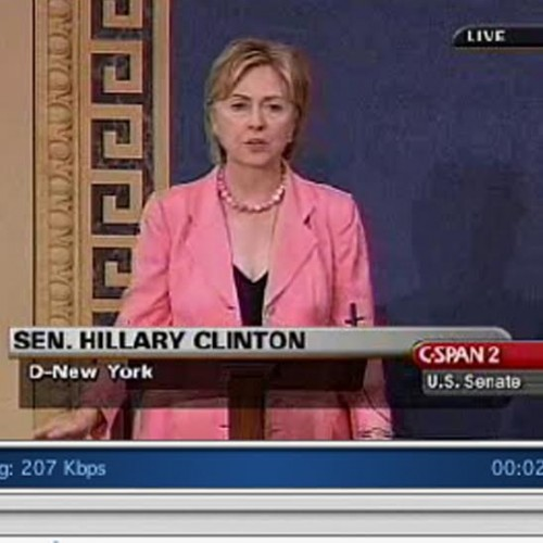 Footage of Hillary Clinton on C-SPAN, July 18