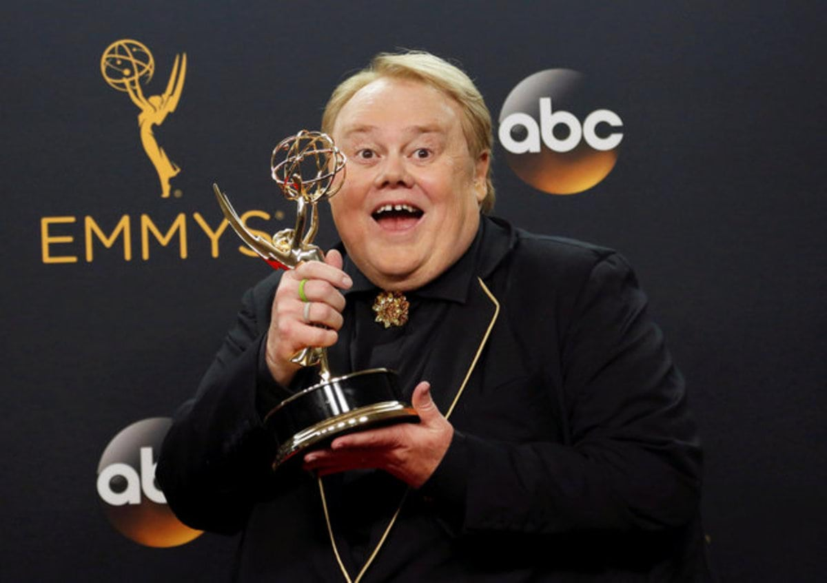 "Actor Louie Anderson poses backstage with his award for Best Supporting Actor in a Comedy Series for his role on the FX series ""Baskets"" at the 68th Primetime Emmy Awards in Los Angeles, California U.S., September 18, 2016.  REUTERS/Mario Anzuon     TPX IMAGES OF THE DAY"