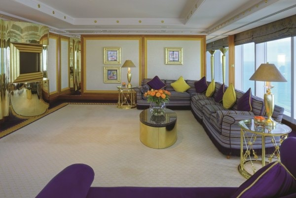 Burj Al Arab - Panoramic Suite Living Area Lowel Level