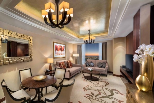 Conrad Dubai Double bed Deluxe Suite Lounge - Copy