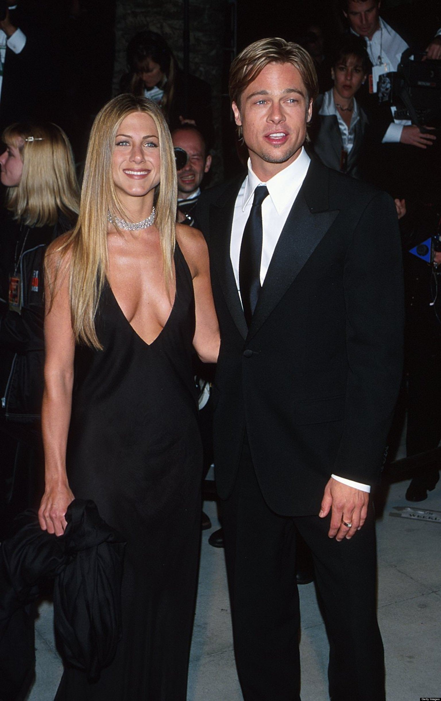 Jennifer Aniston and Brad Pitt (Photo by Rob Beccaris/WireImage)